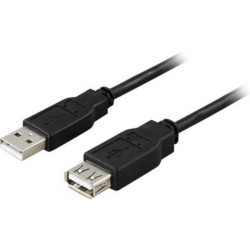Prolongador USB, negro