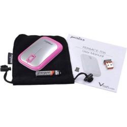 PERIMICE-706 Ratón wireless  Rosa y Plata. Contenido embalaje