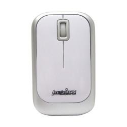 PERIMICE-706 Ratón wireless  Blanco brillo y Plata. Frontal