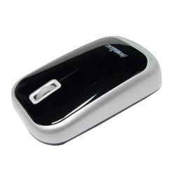 PERIMICE-708 Ratón Wireless. Negro piano/plata