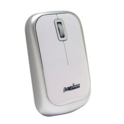 PERIMICE-708 Ratón Wireless. Blanco brillo y plata