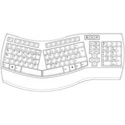 PERIBOARD-512 Ergonómico. Configuración teclado en español